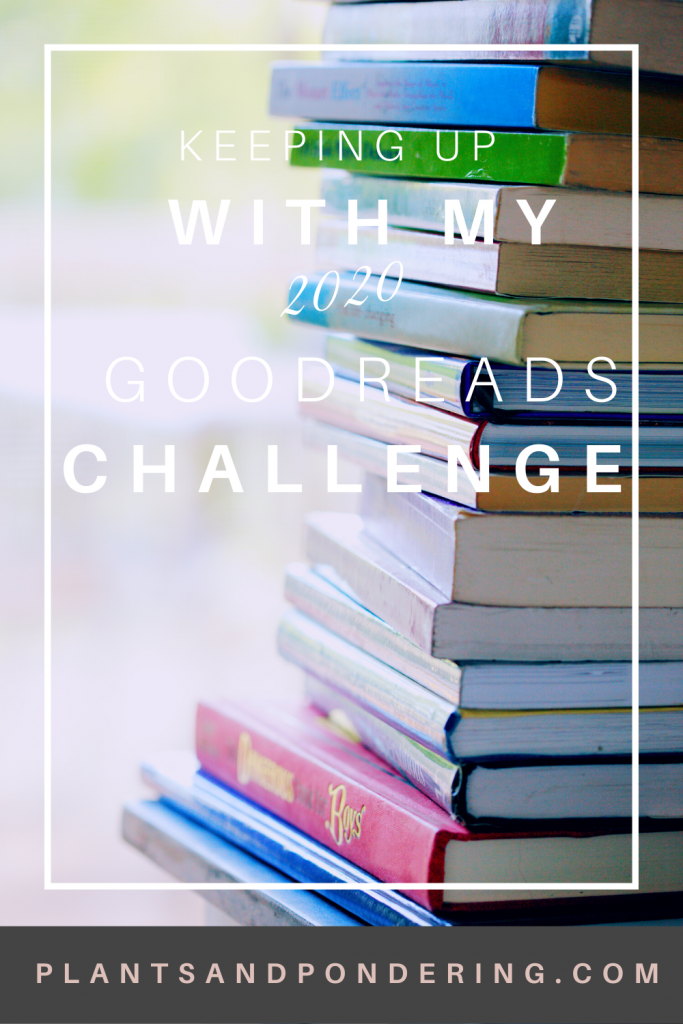 pinterest graphic for 2020 reading halfway point