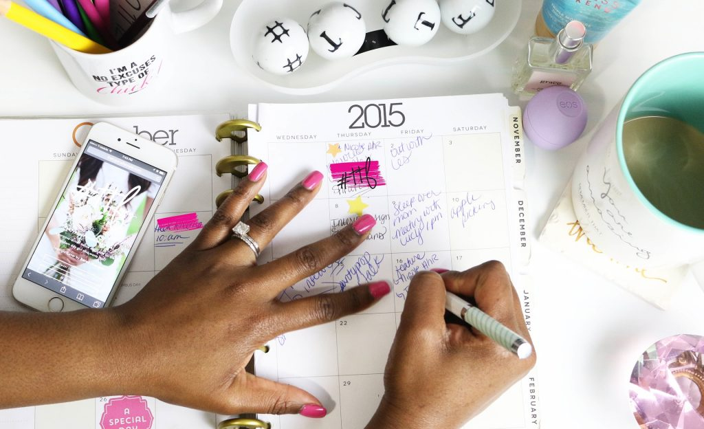 planner picture for november 2020 goals post