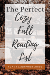 pinterest graphic for cozy fall reading list
