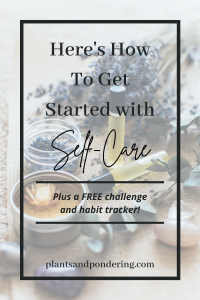 pinterest graphic for how to get started with self care