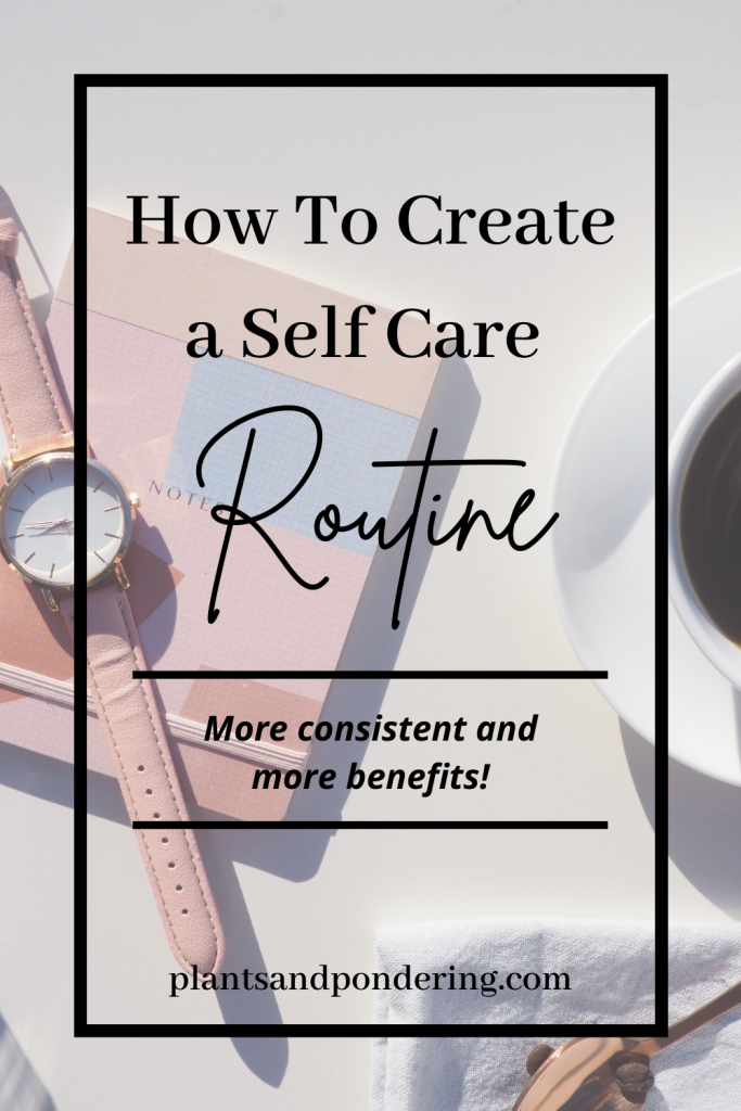 pinterest graphic for perfect self-care routine